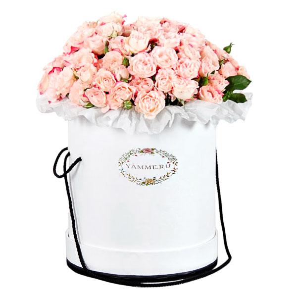 Цветы в шляпной коробке купить минск